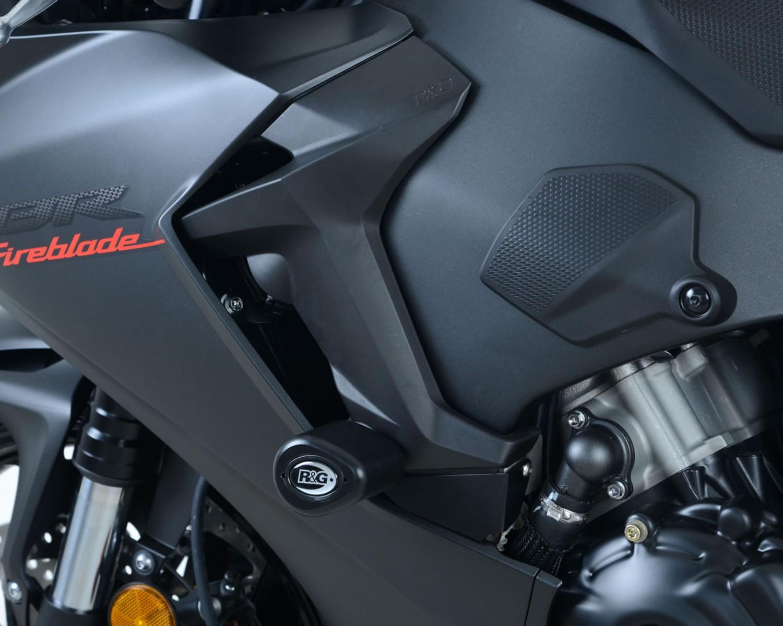 2010 ABS R/&G RACING BLACK RADIATOR GUARD Honda CBR1000RR Fireblade
