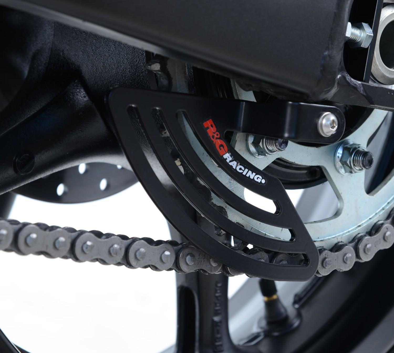 2013 R/&G RACING BLACK ALUMINIUM TOE CHAIN GUARD Yamaha FZ1-S