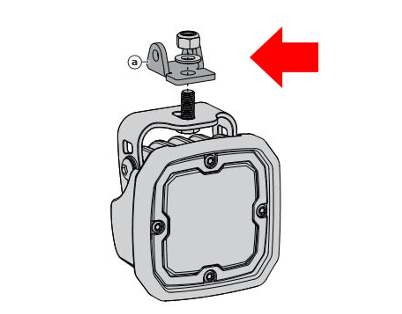 DENALI Crashbar Light Mounting Adapter for Select BMW Motorcycles rev00