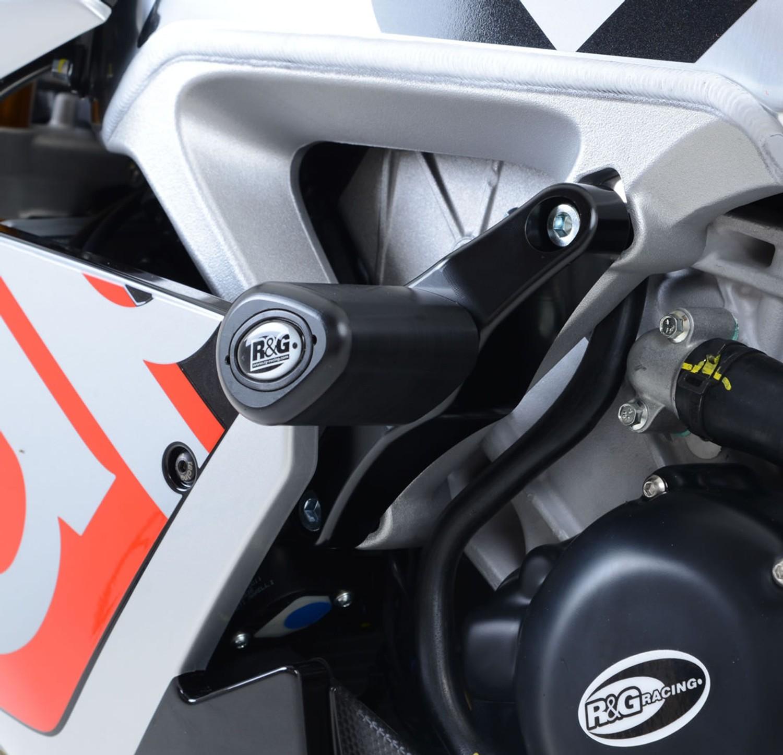 R/&G RACING FORK PROTECTORS PAIR CRASH BOBBINS APRILIA RSV4 FACTORY 2010