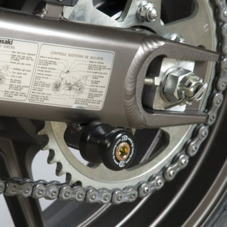Kawasaki ER-6 ER6 2007-2015 R/&G Racing Cotton Reels Paddock Stand Bobbins
